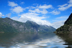 Fjords of Norway. A beautiful Norwegian fjord landscape Royalty Free Stock Image