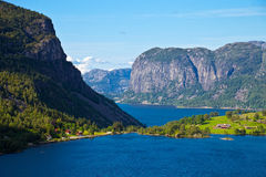 Fjords in Norway Stock Image