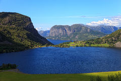 Fjords in Norway Royalty Free Stock Photos