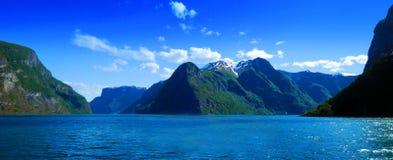 fjords norway arkivbild