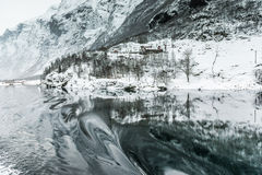 Fjords in Norway. Fjords. high mountains on twilights in Norway, winter Stock Photography