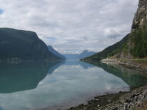 Fjords of Norway. The norwegian fjord, calm and serenity Stock Photos
