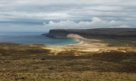 Fjords rise from the sea in the Westfjords Peninsula, northweste Stock Photography