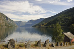 Fjordscape royalty-vrije stock afbeeldingen