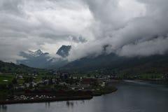 Fjordstad Royalty-vrije Stock Foto's