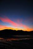 fjordstingsolnedgång Fotografering för Bildbyråer
