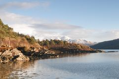 FjordSunart vinter Royaltyfria Bilder