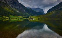 Fjordview,挪威 免版税库存图片