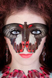 fjärilsmaskering Arkivbilder