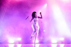 FKA Twigs perform in concert at Primavera Sound 2015 Festival stock image