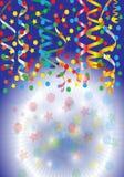Flámulas del partido con confeti Imagen de archivo