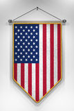 Flâmula da bandeira dos EUA Imagens de Stock Royalty Free