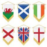 Flâmulas do Reino Unido e do ireland Foto de Stock