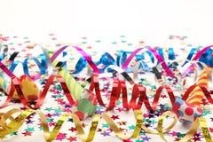 Flâmulas e confetes Fotografia de Stock
