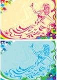 fläcer ladyen vektor illustrationer