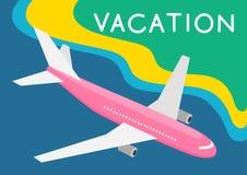 Fl?che f?r Reise, Ferienpostkartenkonzept Entwerfer Evgeniy Kotelevskiy stock abbildung