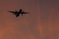 Fläche im Sonnenuntergang Lizenzfreie Stockbilder