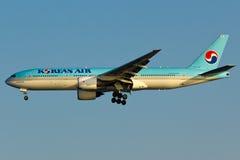 Fläche Korean Airs Boeing 777 Stockfoto