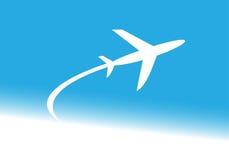 Fläche, Passagierflugzeug Stockfotos