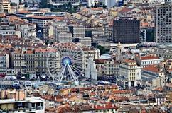 Flächenansicht über Marseille, Frankreich Lizenzfreies Stockbild