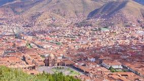 Flächenansicht von Cuzco, Peru stock video