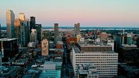 Flächenbrummenbild von Montreal Kanada bei Sonnenuntergang lizenzfreie stockfotos