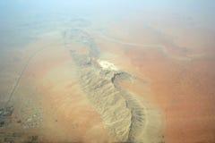 Flächenschuß der arabischen Berge Lizenzfreies Stockfoto