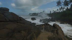 Flächenvideo des Indischen Ozeans stock footage