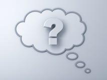 fläck för fråga 3d i tänkande bubbla stock illustrationer