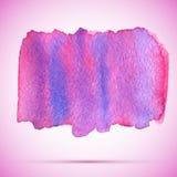 fläck för målarfärg för för vektorvattenfärgrosa färger och violet med skugga Royaltyfri Bild
