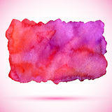 Fläck för målarfärg för vektorvattenfärg röd med skugga Arkivfoto
