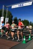 fläck för maraton 10k Arkivfoto
