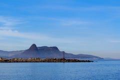 Fläck för navigering för blå himmel för bakgrundshav Royaltyfria Bilder