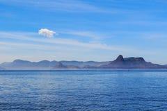 Fläck för navigering för blå himmel för bakgrundshav Arkivfoto