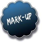 FLÄCK UPP text som är skriftlig på emblem för blåttrundaetikett royaltyfri illustrationer