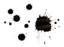 Fläckar av svart färgpulver