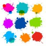 Fläckar färgstänkuppsättning Arkivbilder