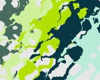 Fläckar för fläckar för abstrakt bakgrundsmodell gula blåa gröna gråa stock illustrationer