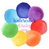 Fläckar för målarfärg för vattenfärg för vektorregnbågefärger Royaltyfri Fotografi