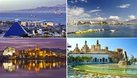 fläckar för semesterort för stadseilatisrael rekreation arkivbilder