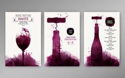 Fläckar för vin för designmallbakgrund royaltyfri illustrationer