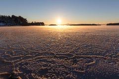 Fläckar på isen Royaltyfri Fotografi