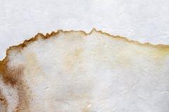 Fläckar på vitbok Fotografering för Bildbyråer
