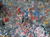 Fläckfärger på tabletopyttersida som används för funktionsdugligt konstverk, abstrakt färgrik konstbakgrund Royaltyfri Foto