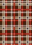 Fläckig brun sömlös bakgrund med röda och vitband Royaltyfri Foto