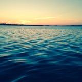 Fläckt soluppgång Arkivfoton