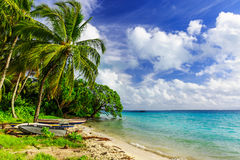 Fläkta ön, republik av Kiribati Royaltyfria Foton