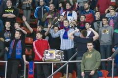 Fläktar av klubban CSKA royaltyfri fotografi