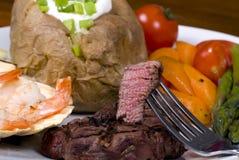 fläskkarré för 001 steak Arkivbild