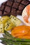 fläskkarré för 004 steak Arkivbild